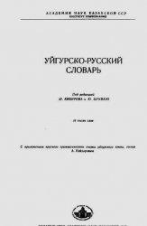 Книга Уйгурско-русский словарь
