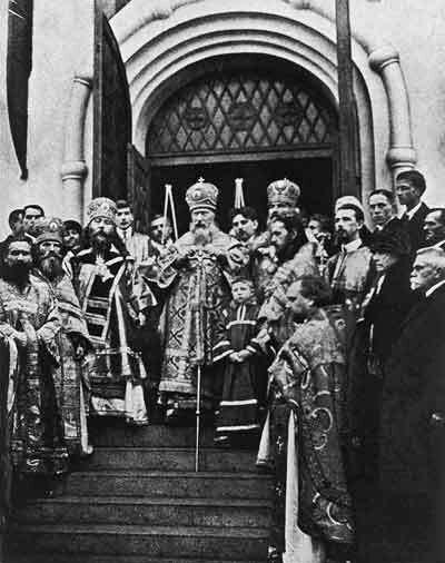 Освящeниe храма Успения Богородицы в Ольшанах. (1925 г.)