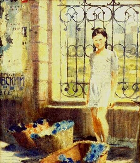 Пименов. Цветочница. 1944. Холст, масло