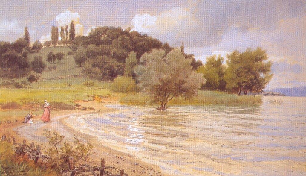 Hans Gude--Arenberg Ved Ermatingen, Bodensee--1879..jpg