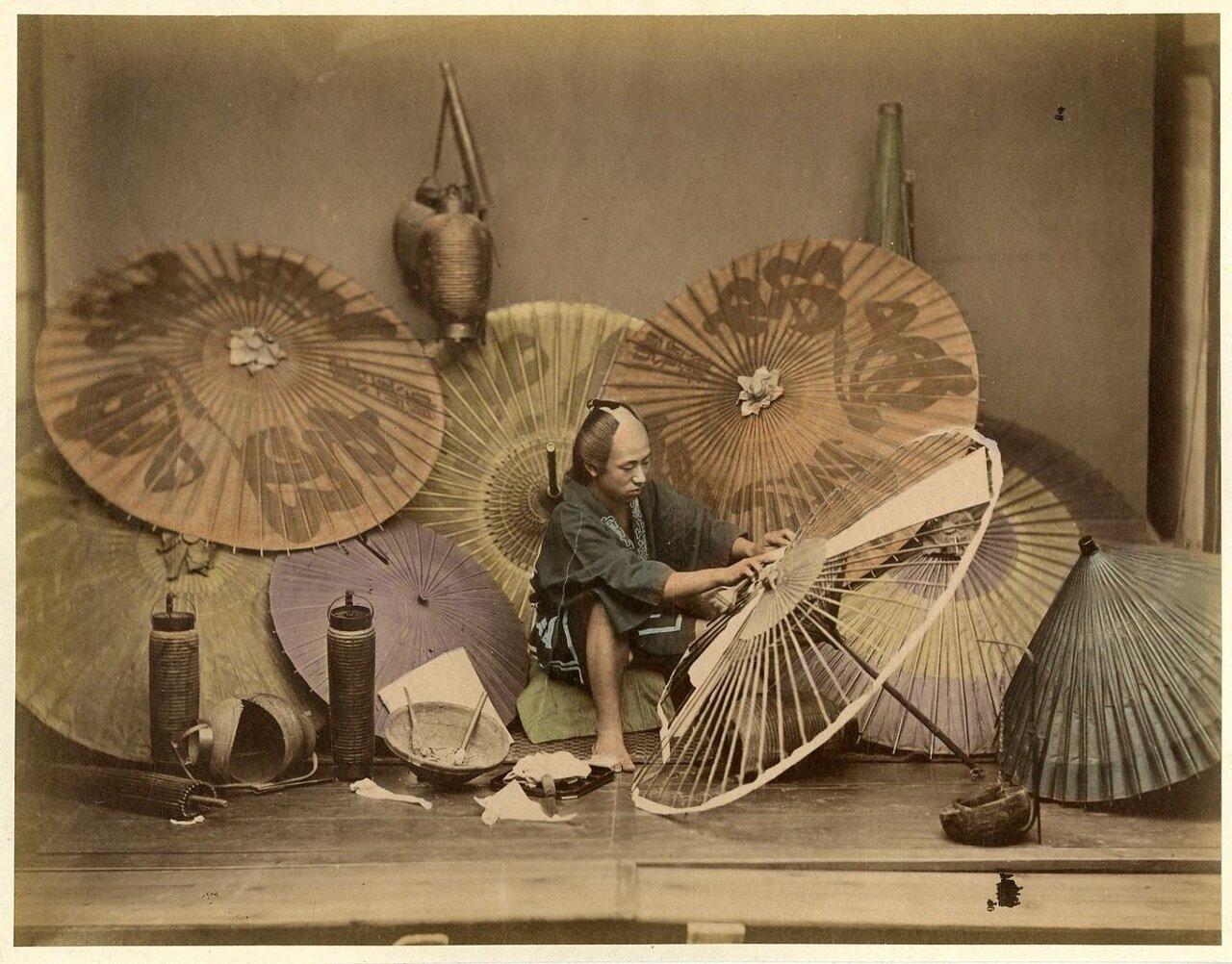Торговец зонтами