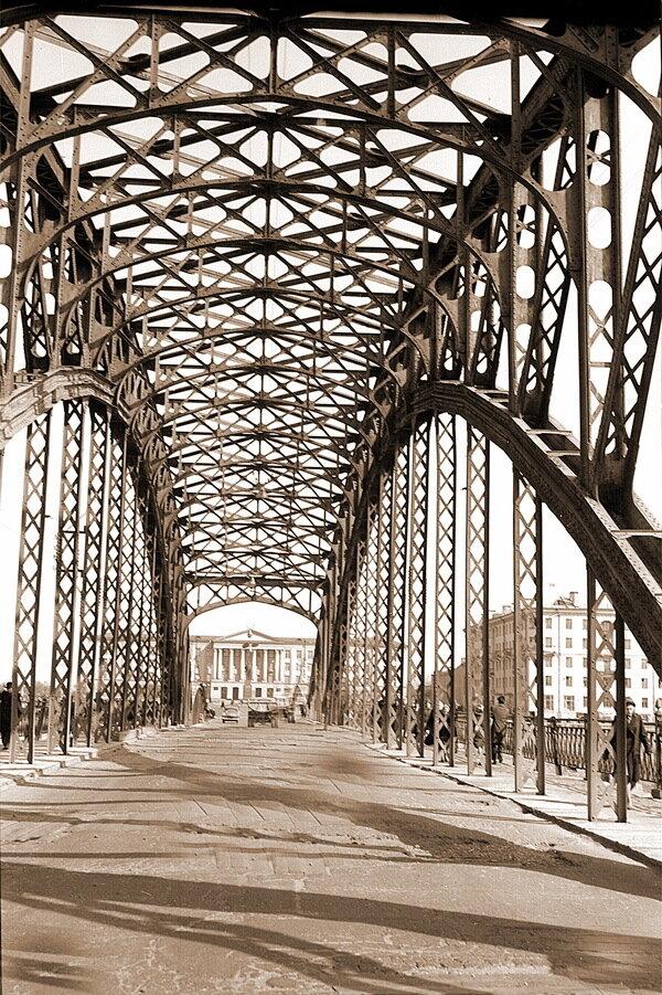 1960-е. Ольгинский мост через реку Великую