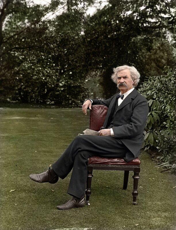 Марк Твен в саду, 1900 год © zuzahin