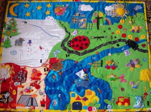 Развивающий коврик для детей... волшебная страна Семьландия!