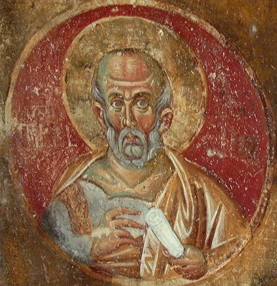 Святой Пророк Иона. Фреска монастыря Милешева (Милешево), Сербия. До 1228 года.