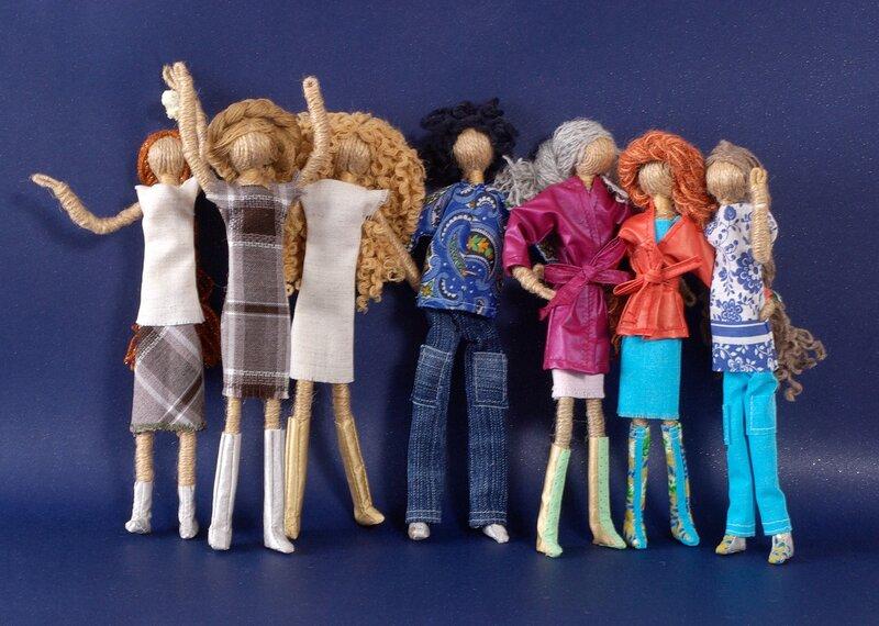 Кукла из проволоки своим руками 805