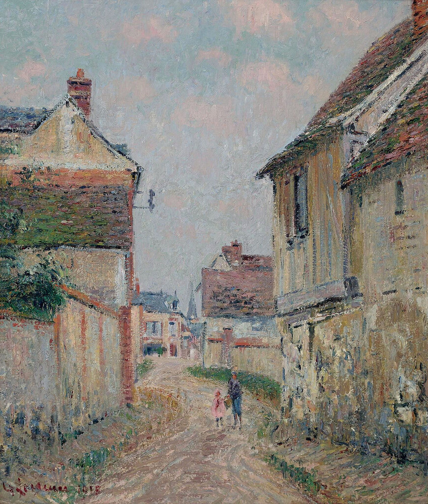 Gustave Loiseau - Mother and Child on the Street at Pontoise, 1915.jpeg