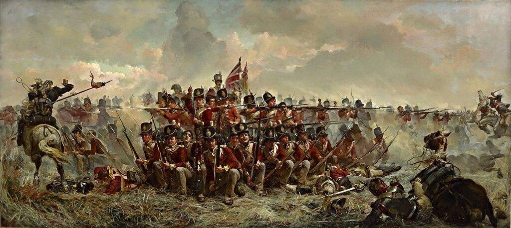 Элизабет Томпсон. 28-й полк в битве при Катр-Бра.jpg