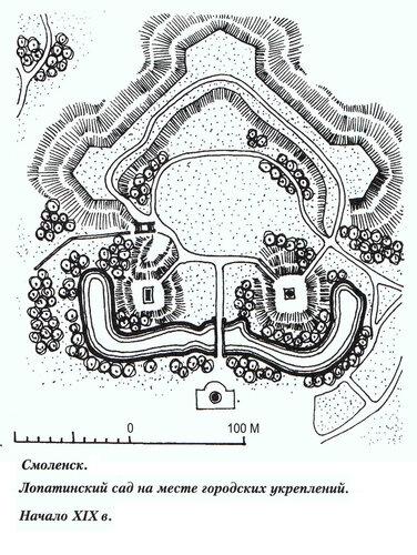Лопатинский сад в Смоленксе, генеральный план