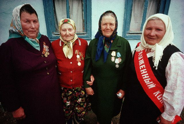 Soviet Women with WWII Medals