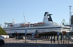 Паром Принцеса Мария в порту Хельсинки