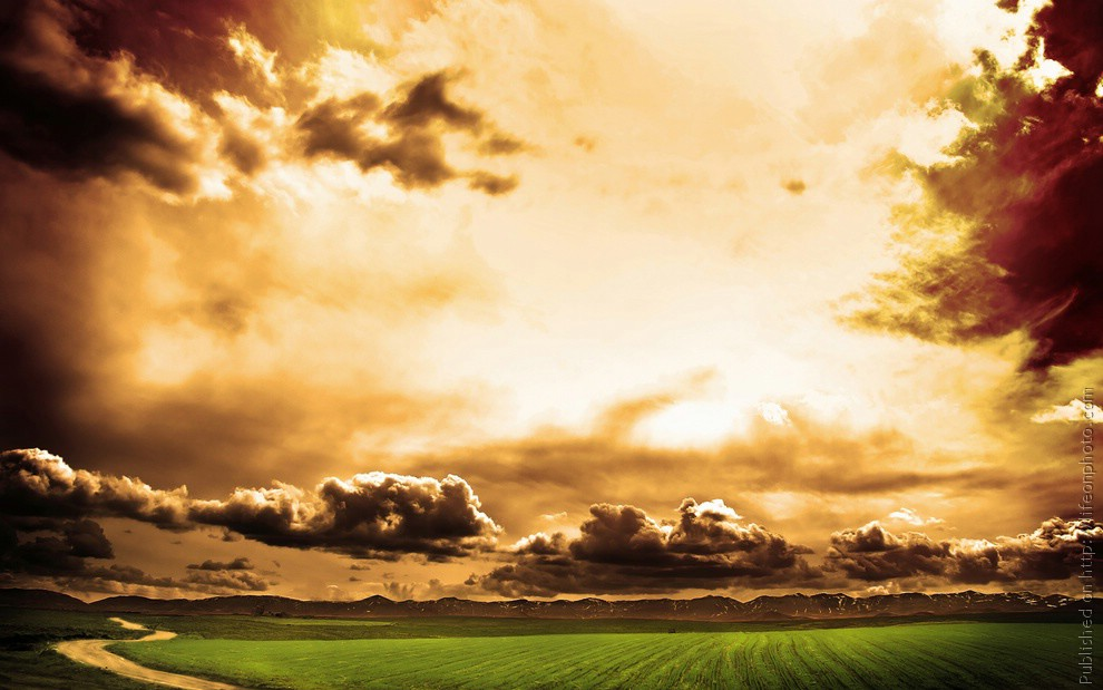 Потрясающе красивое небо