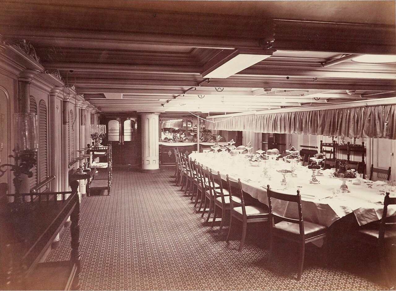 163. Обеденный салон HMS «Сераписа» (вариант снимка 04)