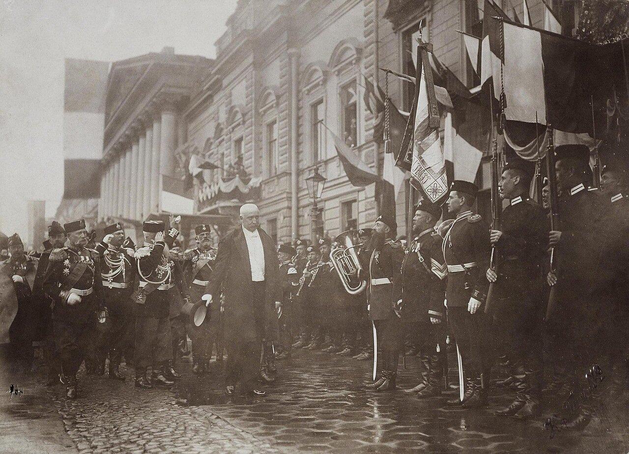 Встреча французского президента Фора на Английской набережной. 1898