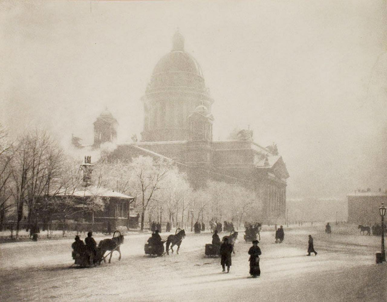 10. Исаакиевский собор зимой. До 1909
