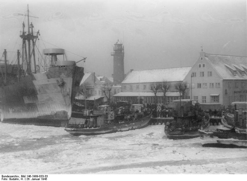 Pillau, Hafen, Flьchtlinge