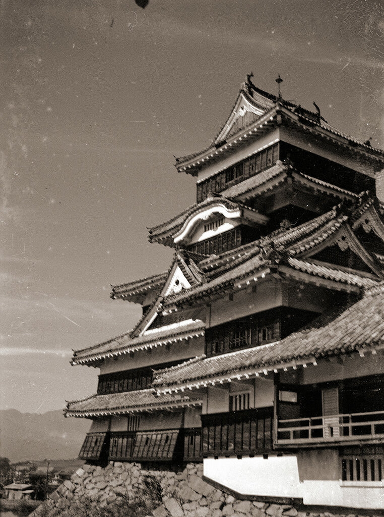 Matsumoto Castle Side View - Japan 1930s.