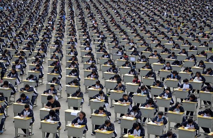 20 шокирующих фотографий, показывающих, как в Китае много людей. (20 фото)