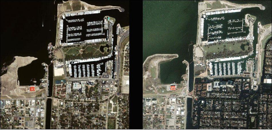 14. Нью-Орлеан, до и после Катрины.