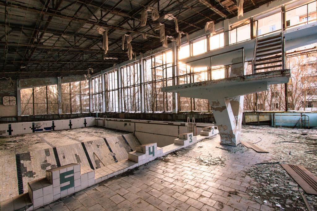 Украина. Припять. Город был основан в феврале 1970 года и являлся девятым атомоградом СССР. В ап