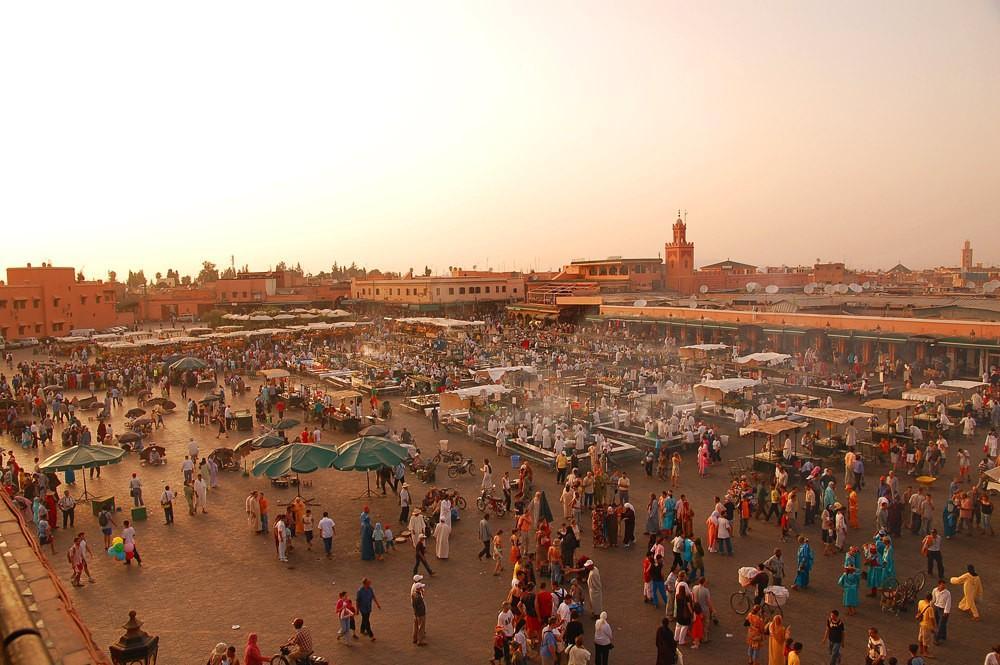 57. Марракеш, Марокко . Острые специи, которыми когда-то торговали по всему Марракешу, словно впитал