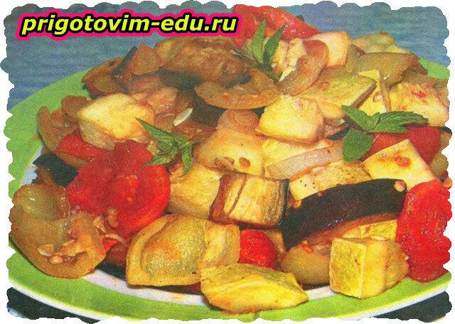 Пикантные запеченные овощи