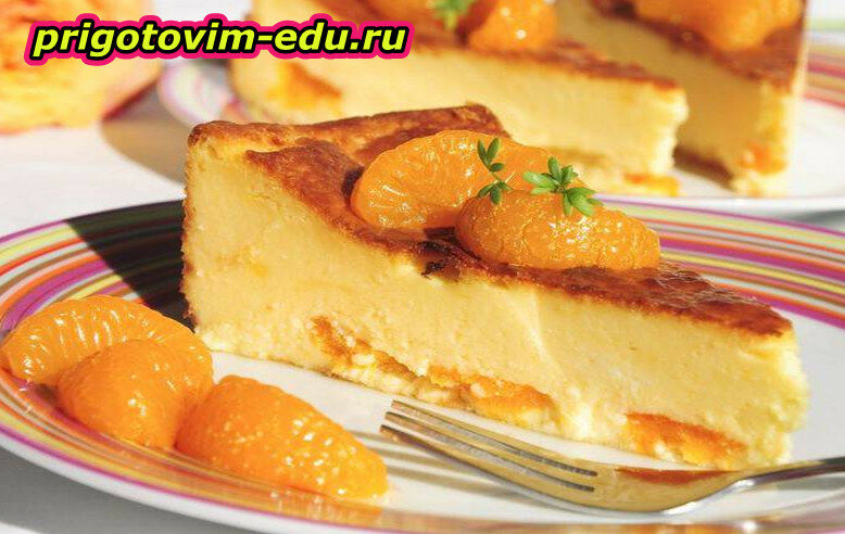Омлет с консервированными мандаринам