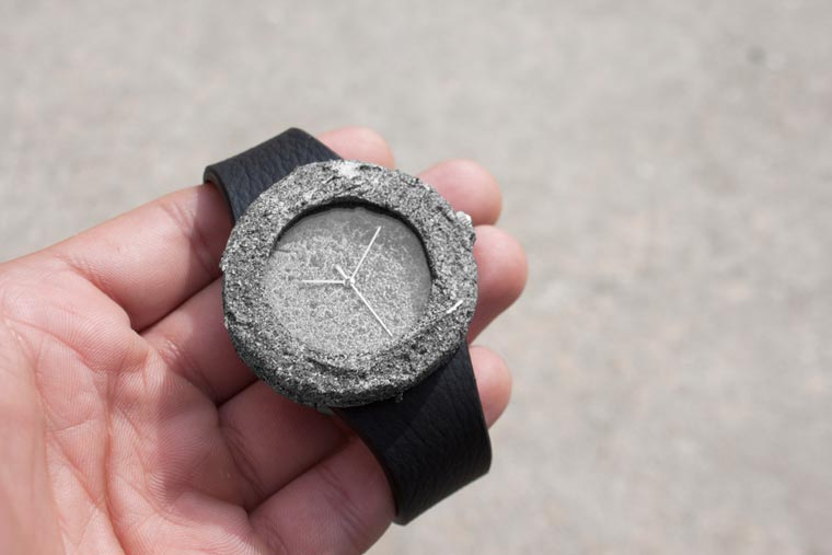 Lunar Watch - This watch is carved from a genuine rock from the Moon!