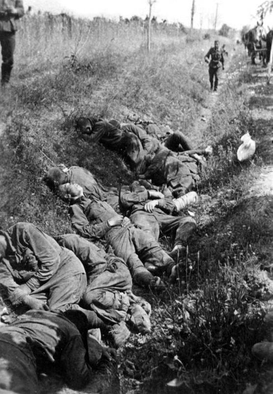Убитые красноармейцы в придорожном кювете.jpg