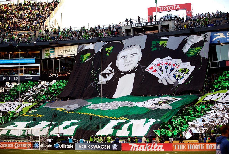 Soccer tifos / Гигантские баннеры футбольных болельщиков со со стадионов по всему миру - Seattle Sounders