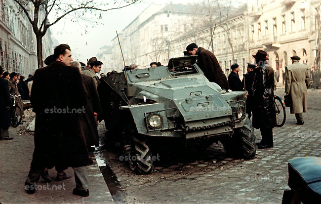 1956 uprising in colour, Budapest, Hungary