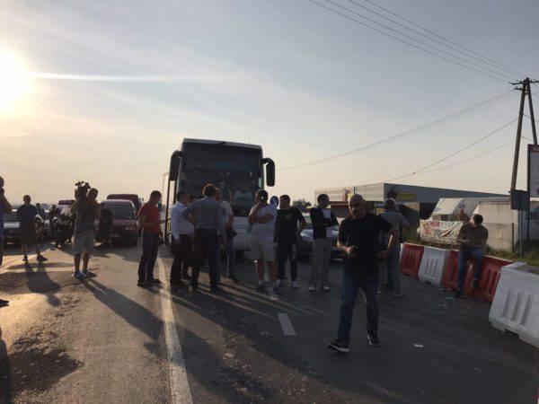 Польские пограничники проверяют автобус, в котором находится Саакашвили (ФОТО) — РНС