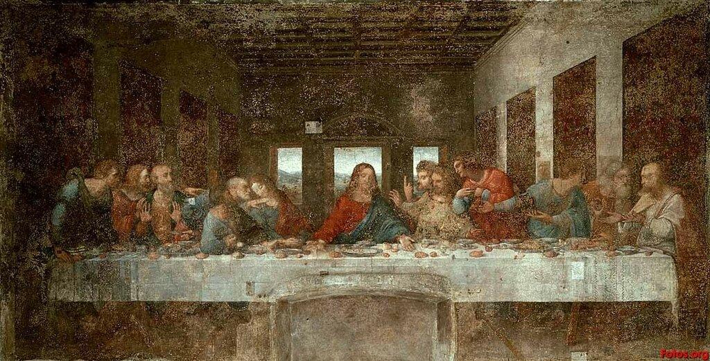 22.1.Тайная вечеря (1494-1498) (Милан, трапезная Санта-Мария дель Граци).jpg