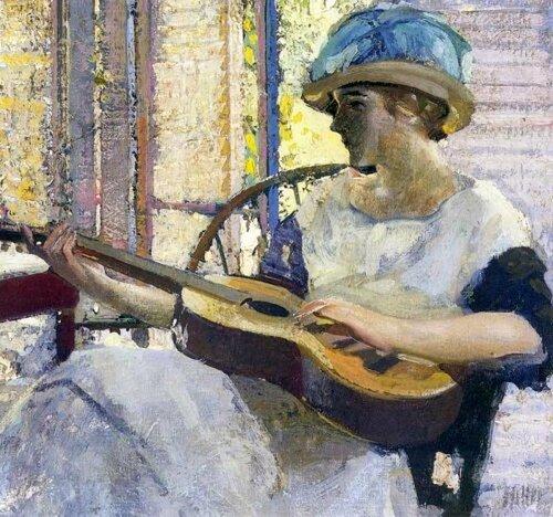 Richard Emil Miller-Portrait Of The Artists Daughter