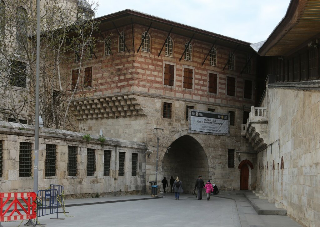 Istanbul. Imperial hall of the New mosque (Yeni Cami Hünkar Kasrı)