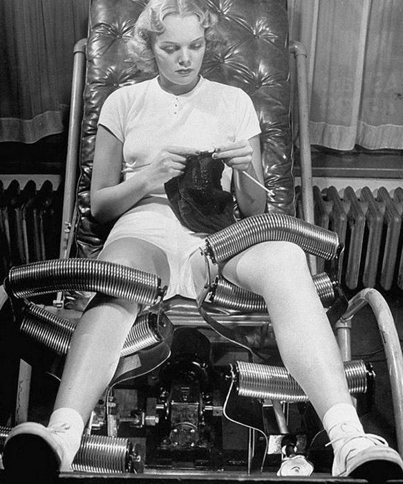 Салоны для похудения были популярны в 1940-х годах. В каждом салоне использовалась своя методика