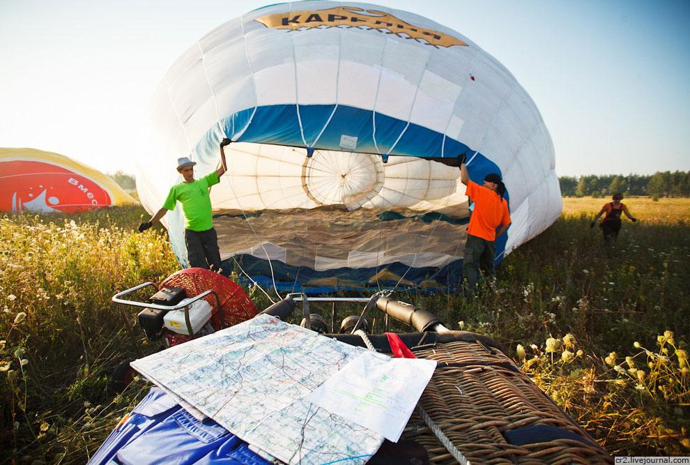 Подготовить шар для взлета занимает всего 20-30 минут: