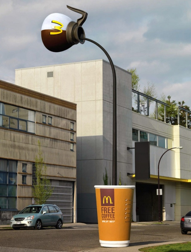 © McDonalds     Акак выотноситесь кинтерактивной рекламе?     Фото на превью Amer