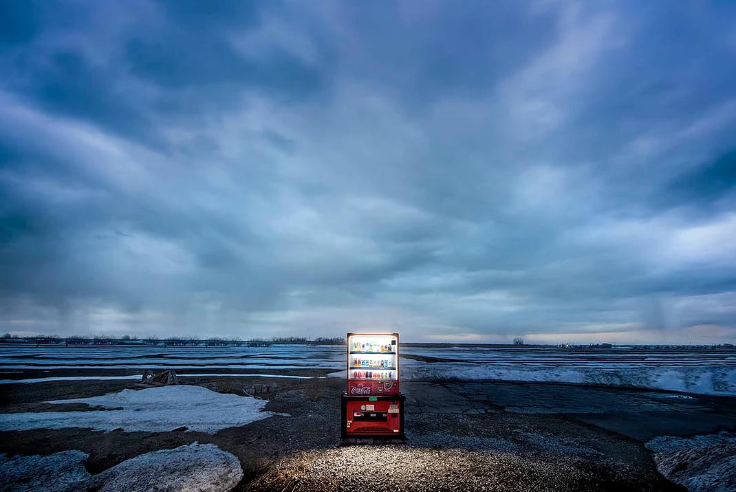 Snow Covered Vending Machines Illuminate a Frozen Hokkaido