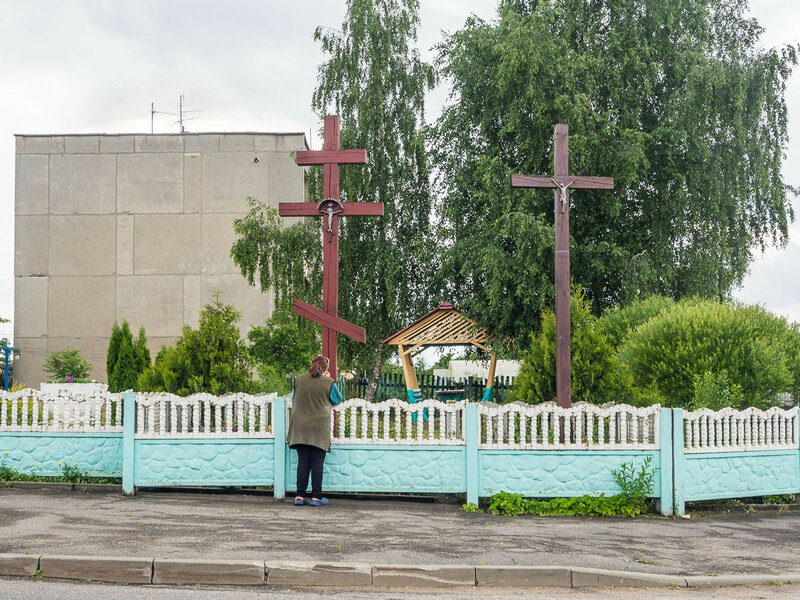 Один Бог, два креста.