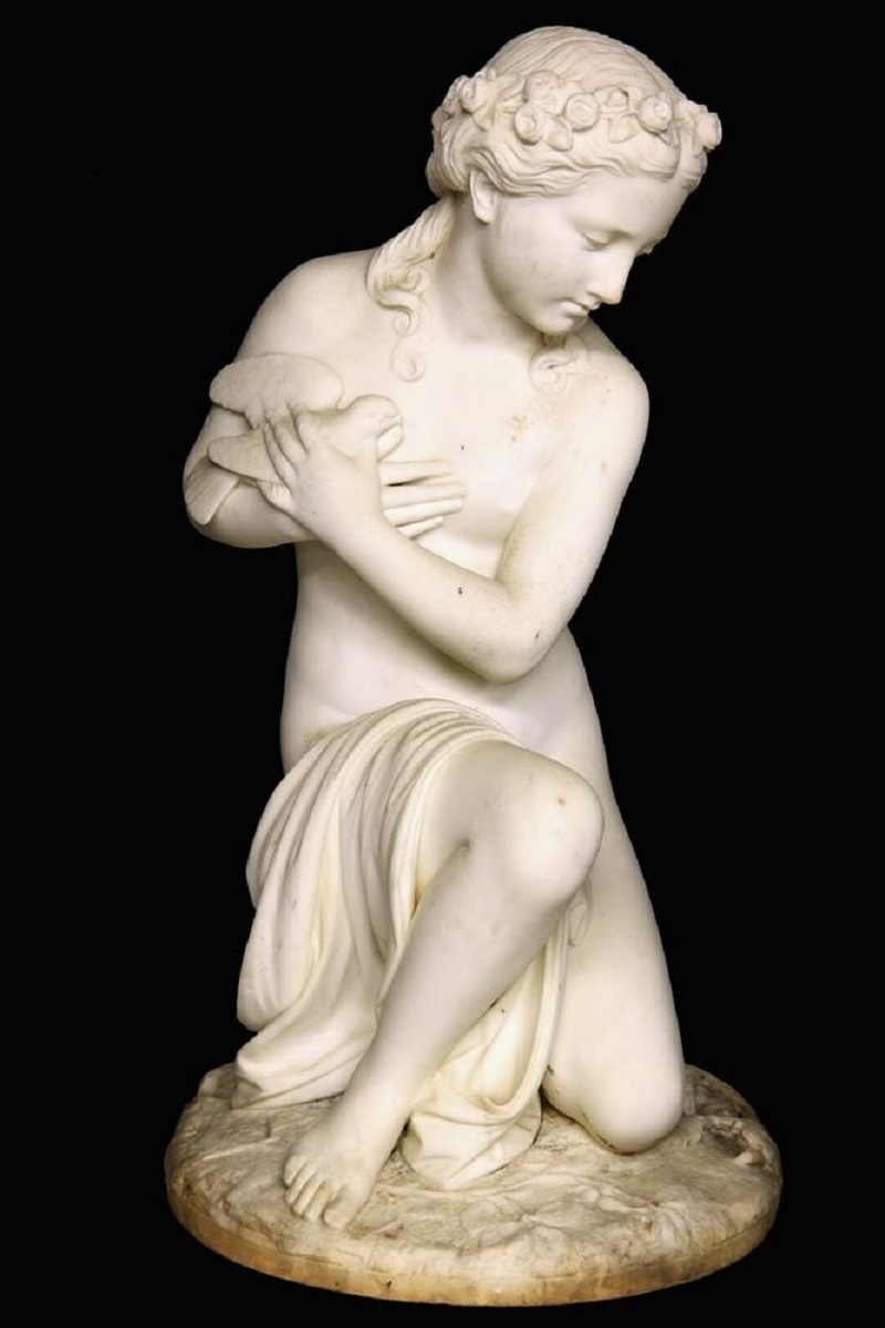 Aphrodite with Dove to Breast, Kneeling on a Snake.Jpeg