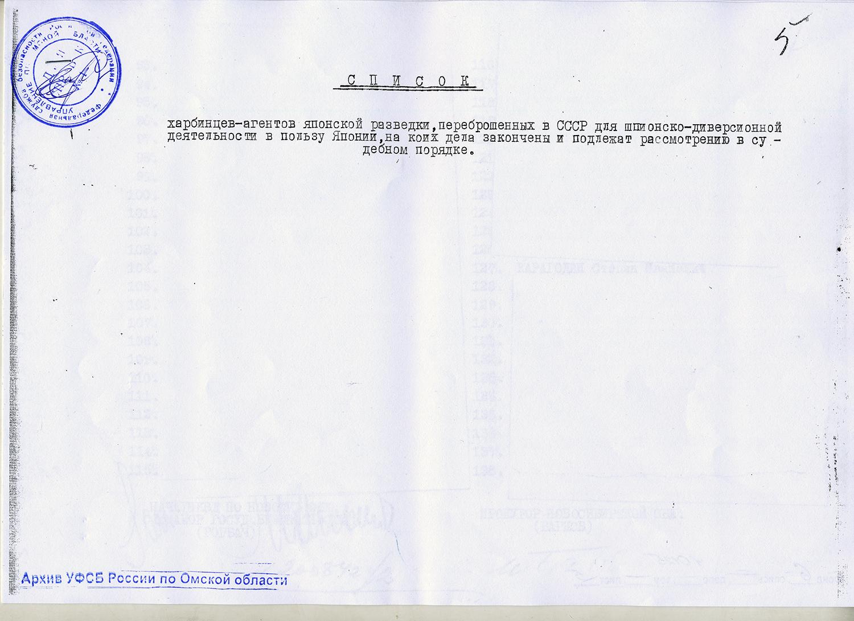 Приложение к Протоколу Комиссии НКВД и Прокурора СССР № 251, от 03.01.1938