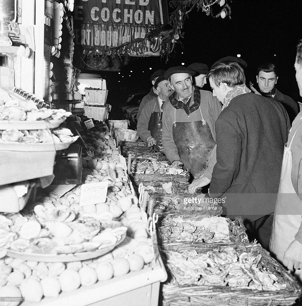 1959. Последние покупки в старом году в Ле Аль. Париж, 31 декабря
