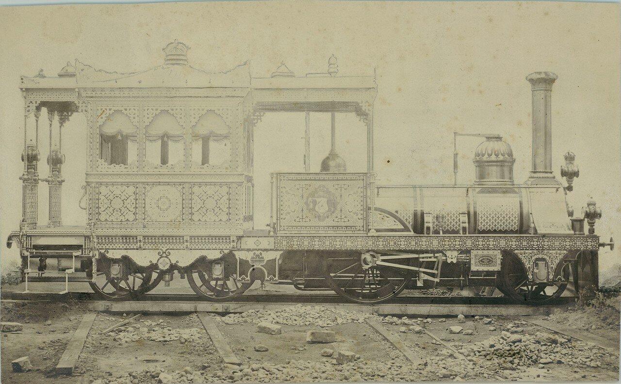 1859. Локомотив компании «Robert Stephenson and Company» из Ньюкасла. Локомотив для правителя Египта