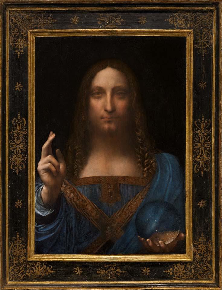 Спаситель мира. Леонардо да Винчи(в районе 1500)