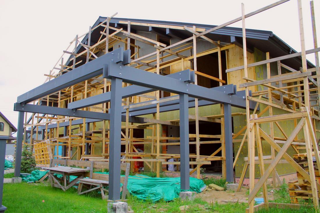 Строительство дома фахверк из CLT плит