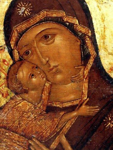 Владимирская икона Божией Матери. Москва, первая треть XVII века.