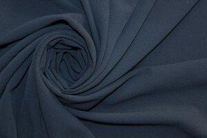 Ит1506 остаток 3,20м (режем) 400руб-м Плательно-блузочный фактурный креп,цвет темно-синий,ткань приятная,пластичная,практически не прозрачная,для платьев,юбок,блузок,комбинезонов,широких брюк,шир.1,50м,пэ 100%