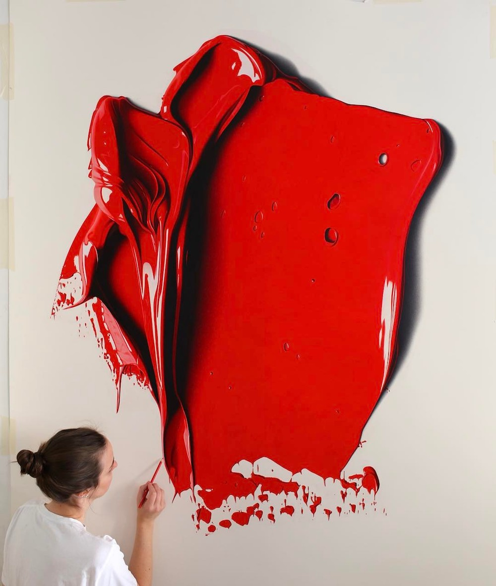 Giant Dabs of Thick Oil Paint Captured as Hyperrealist Colored Pencil Drawings (9 pics)