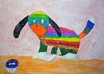 Разноцветная собачка